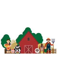 Family farmers vector
