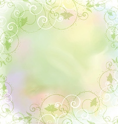 floral frame on watercolor background 2005 vector image