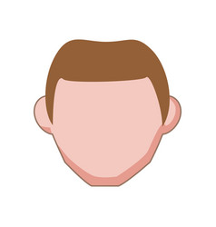 isolated man face vector image vector image