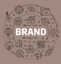 linear brand vector image vector image