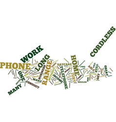 Long range cordless phone text background word vector