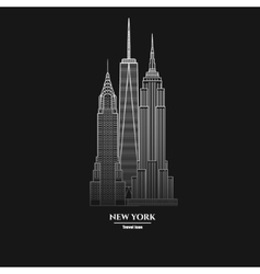 New York Skyscraper Icon 1 vector image vector image