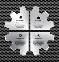 options infographic steel gear vector image vector image
