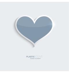 Plastic icon heart symbol vector image vector image