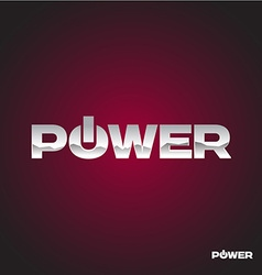 Power text logo vector image
