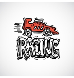 Racing Icon Sketch vector image