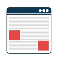 Responsive web design isolated icon vector