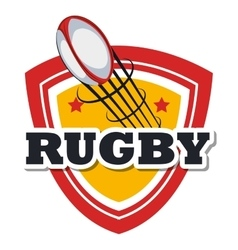 Rugby ball flying design vector