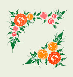 russian traditional floral ornament vector image vector image