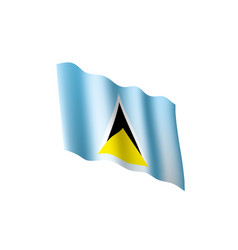 Saint lucia flag vector