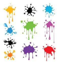 Set of paint splash vector