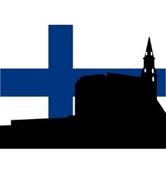 silhouette of helsinki vector image vector image