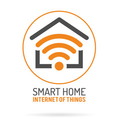 Smart home and internet of things logo vector