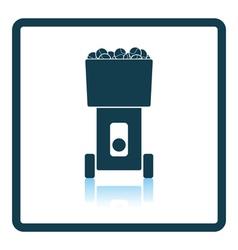 Tennis serve ball machine icon vector image vector image