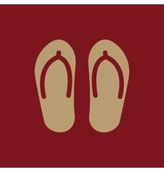 The flip flops icon vacation symbol flat vector