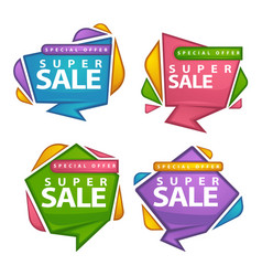 Uper sale collection of bright discount bubble vector