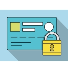 Credit card padlock invoice payment icon vector