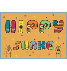 Hippy shake artistic font vector