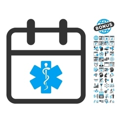 Health care day flat icon with bonus vector