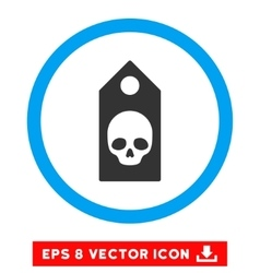 Death coupon eps rounded icon vector