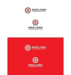 car wheel logo vector image