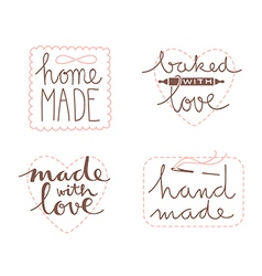 Hand drawn label set vector image