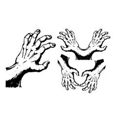 Vintage hands vector
