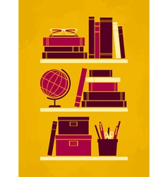 Retro office poster vector