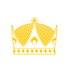Royal crown sign king hat ruler cap vector