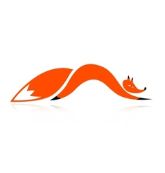 Fox silhouette for your design vector