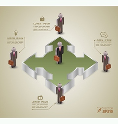 Template for business concept vector