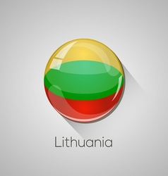 European flags set - lithuania vector