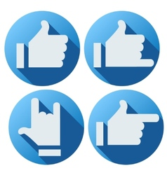 Flat style of like button for social networking vector