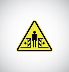 entrapment risk sign vector image