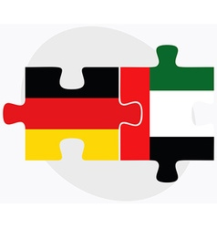 Germany and united arab emirates flags vector