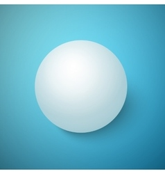 Realistic 3d ball isolated on a blue vector