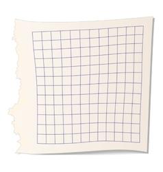 Square paper for math icon vector