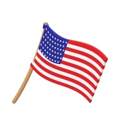 Usa flag cartoon icon vector