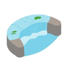 Horseshoe fall icon isometric 3d style vector