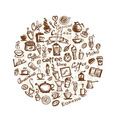 Coffee time design elements vector