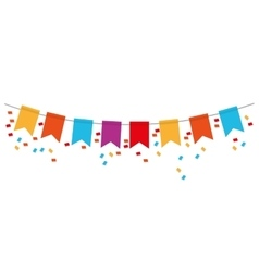 Party banner icon vector
