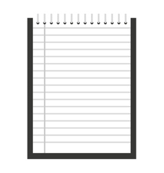 Notebook isolated icon design vector