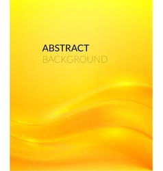 Abstract yellow background with smooth lines vector image vector image