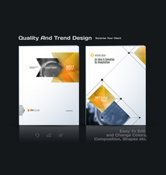 Annual report business abstract template vector