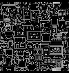 black friday cyber monday tile pattern vector image
