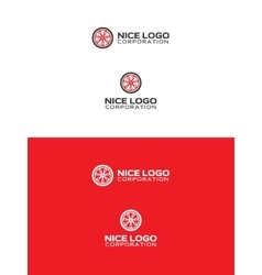car wheel logo vector image