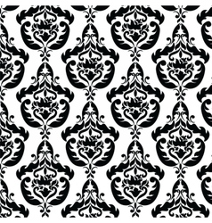 Classic style floral pattern vector image