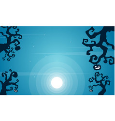 Collection halloween night background vector