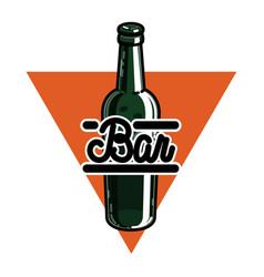 color vintage bar emblem vector image vector image