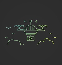 Drone concept vector